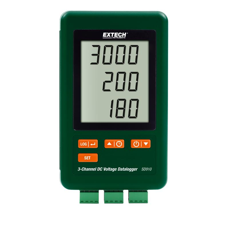 Extech SD910 3 Channel DC Voltage Millivolt Datalogger