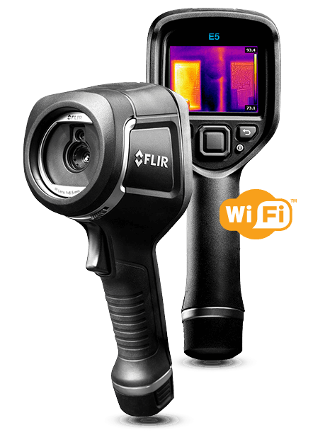 Flir E5 Thermal Imager Camera with MSX WiFi and Hot Cold Spot Reading