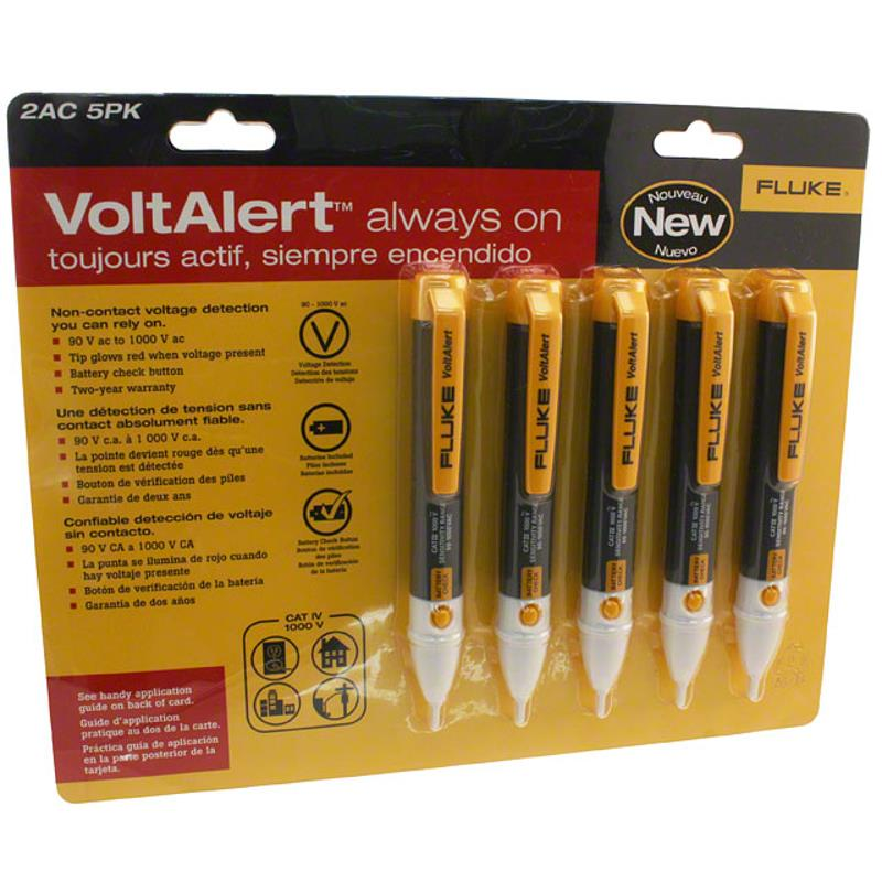 Fluke FLK2AC/90-1000V5PK Voltage Detector Non-Contact Five Pack