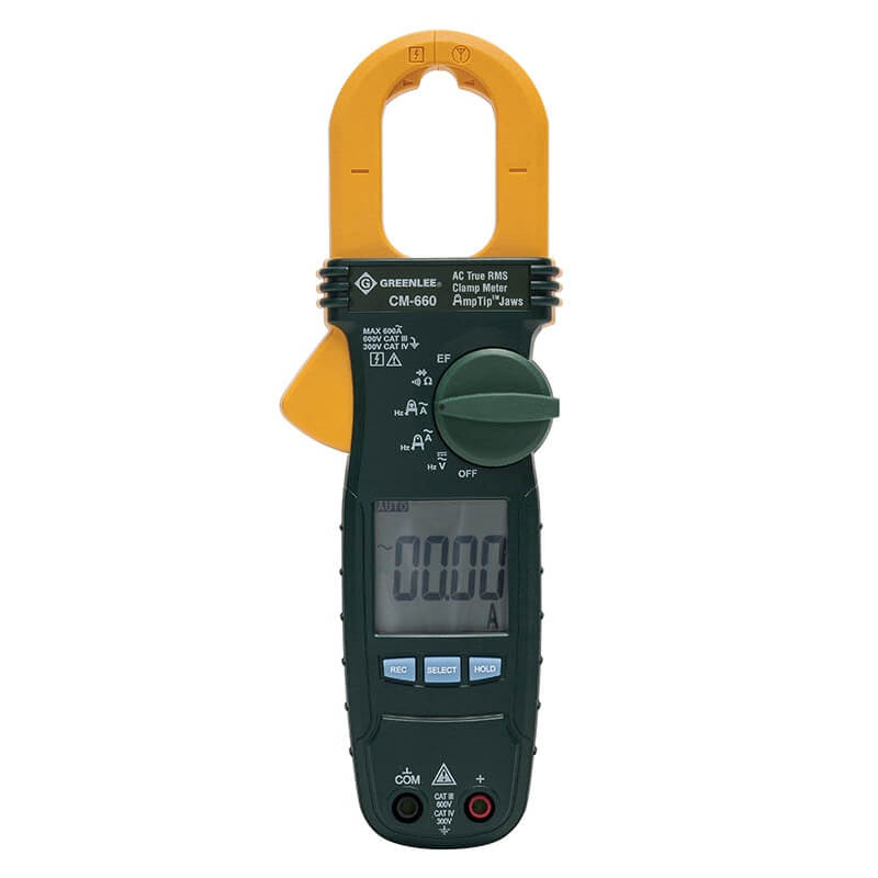 Greenlee CM-660 600A AC True RMS Portable Clampmeter