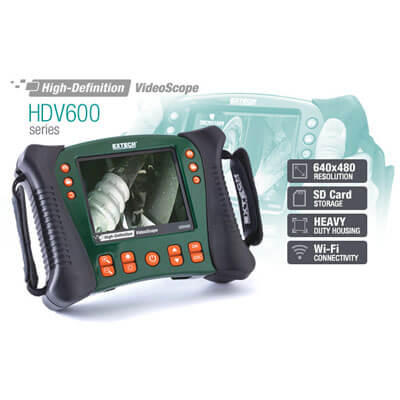 Extech HDV600 High Definition VideoScope Borescope Inspection System
