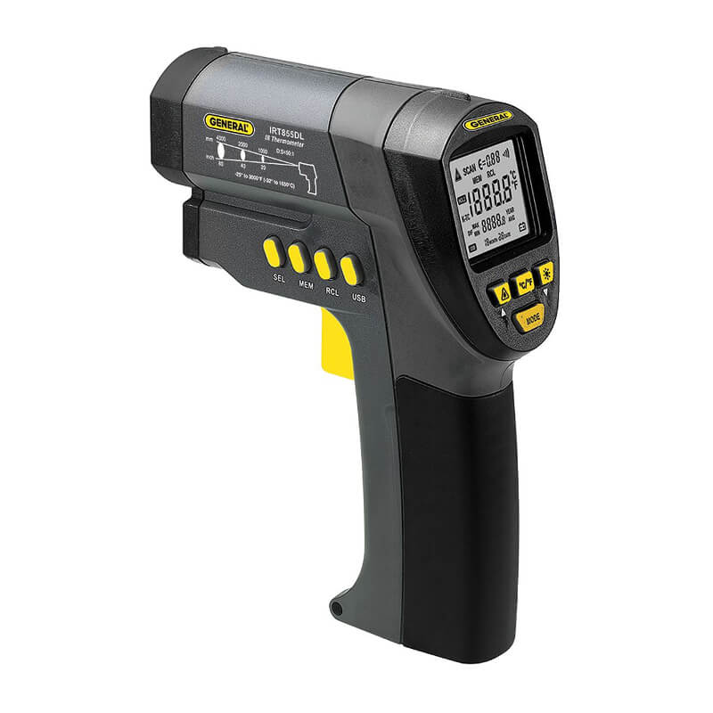 General Tools IRT855DL Datalogging IR Thermometer Ultra-Wide Range
