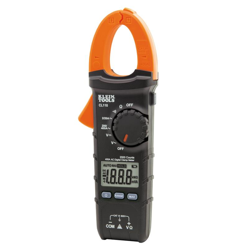 Klein Tools CL110 Digital Clamp Meter 400A AC Current AC/DC Voltage