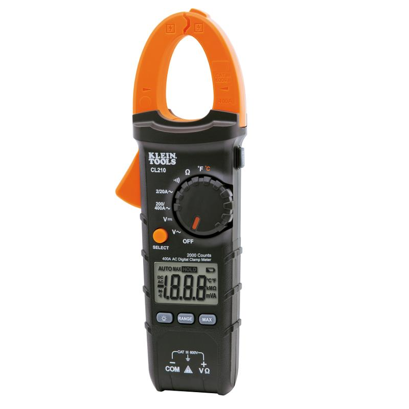 Klein Tools CL210 Digital Clamp Meter 400A AC Current Auto Ranging