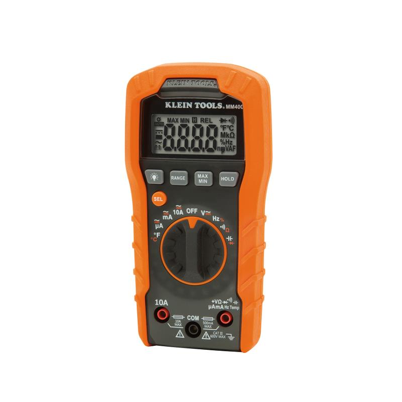Klein Tools MM400 Digital Multimeter 600V Auto Ranging