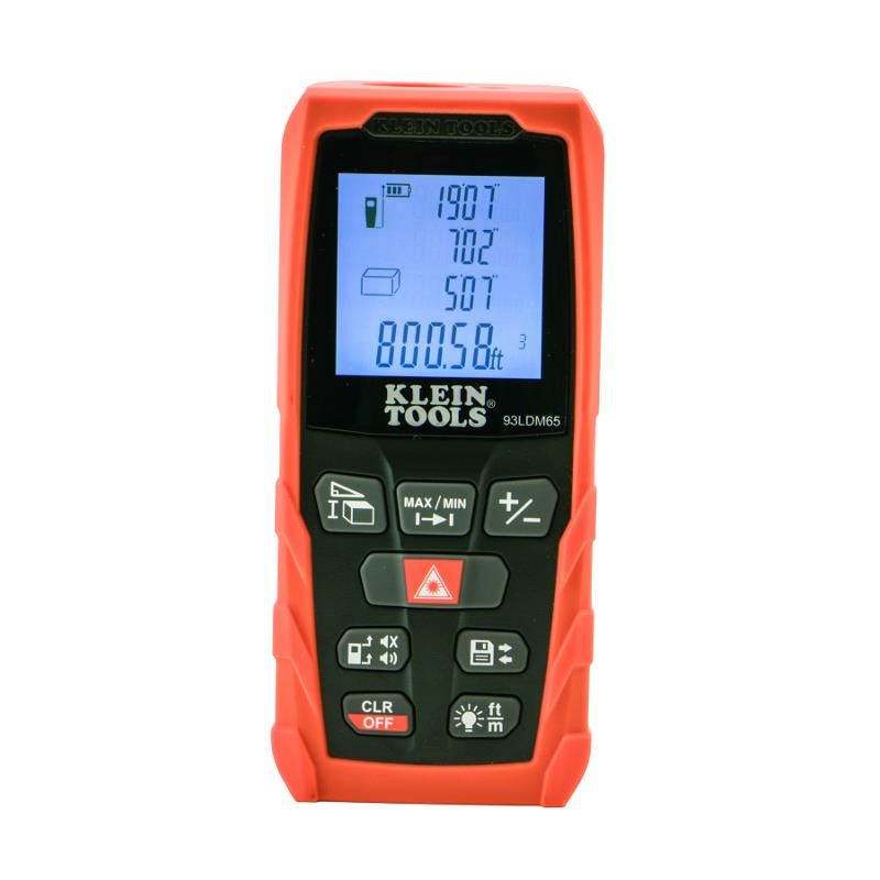 Klein Tools 93LDM65 Laser Distance Meter with Advanced Measurement Options