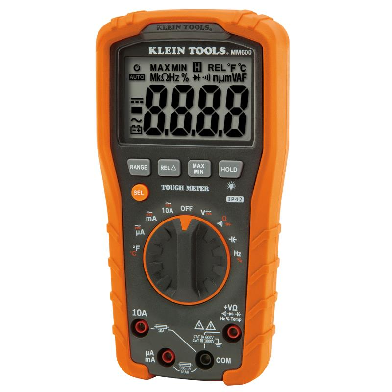 Klein Tools MM600 Digital Multimeter 1000V AC/DC Auto Ranging