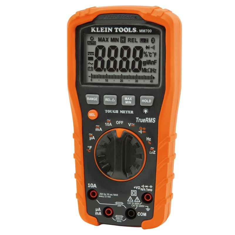 Klein Tools MM700 TRMS Digital Multimeter 1000V AC/DC Auto Ranging