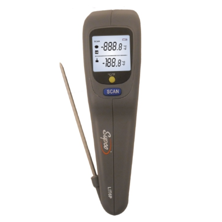 Supco LIT6P Infrared and Probe Dual Thermometer
