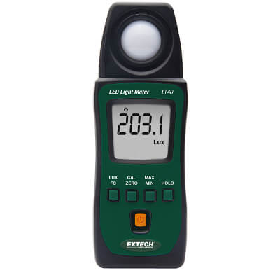 Extech LT40 Handheld Light Meter for LED Lights