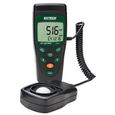 Extech LT45 Light Meter for Standard and LED Lights