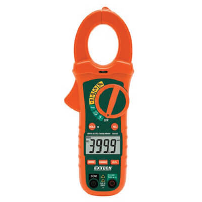 Extech MA435T 400A AC DC TRMS Clamp Multimeter with Voltage Detector
