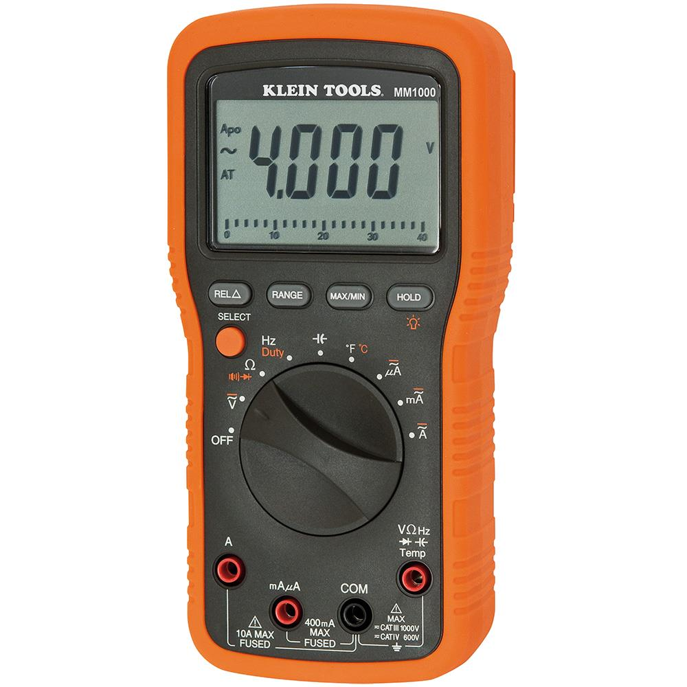 Klein Tools MM1000 Multimeter for Electrical and HVAC Applications