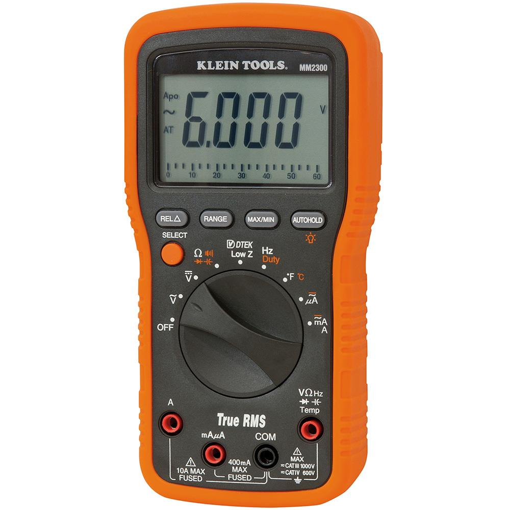 Klein Tools MM2300 TRMS Multimeter for Electrical HVAC Applications