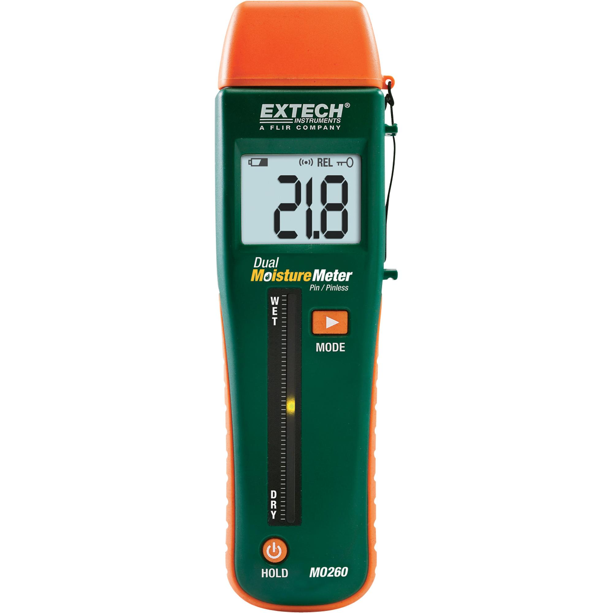 Extech MO260 Moisture Content Meter Invasive and Non-Invasive Set