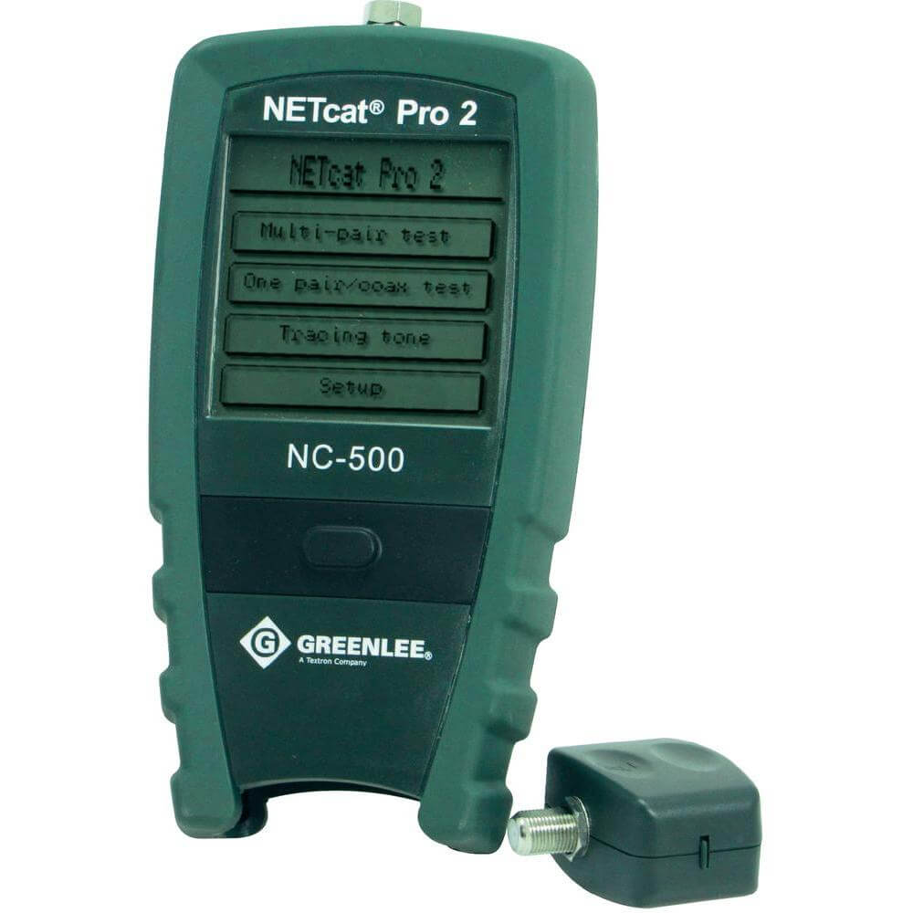 Greenlee NC-500 NETcat Pro Structured Wiring Troubleshooter