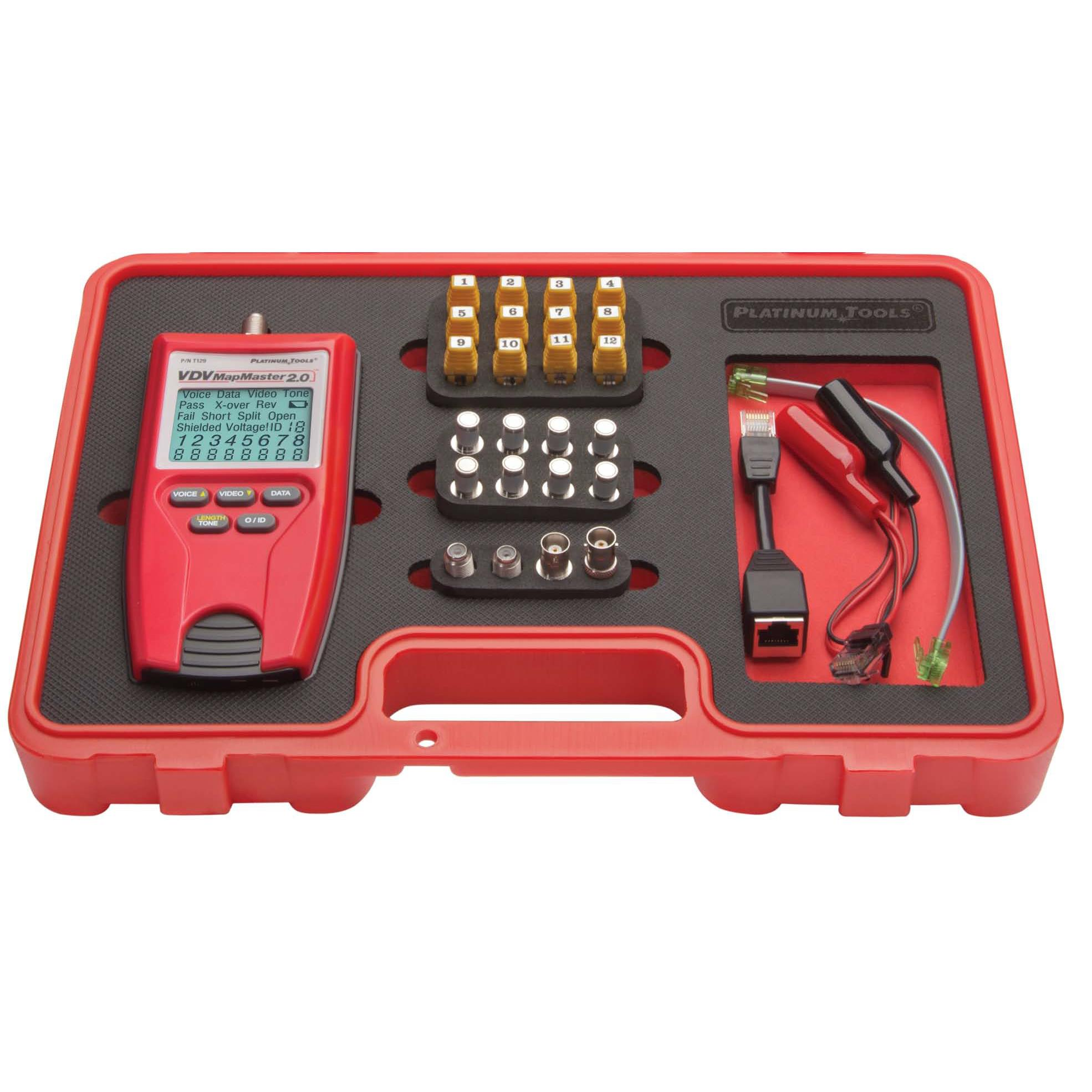 Platinum Tools T129K1 VDV MapMaster 2.0 Kit Lan Cable Tester and Mapper