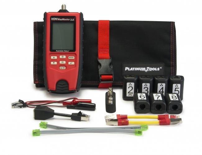 Platinum Tools T130K2 VDV MapMaster 3.0 Cable Tester PRO Kit with Smart Remotes