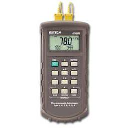 Extech 421509-NIST 7-Type Thermocouple Data Logger with Alarm