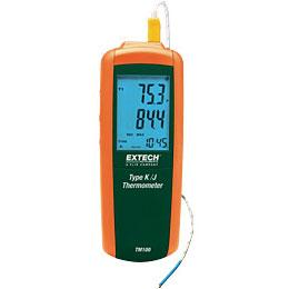 Extech TM100-NIST Digital J-Type or K-Type Single Input Thermometer