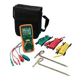 Extech 382252-NIST Dual-Display Earth Ground Resistance Tester Kit
