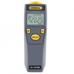 General Tools PCT900 Mini Combination Photo and Contact Tachometer