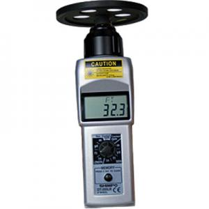 Shimpo DT-205LR-S12 Contact Digital Handheld Tachometer with Wheel
