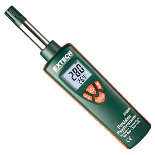 Extech RH390 Precision Psychrometer Temperature and Humidity Meter