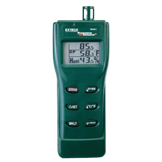 Extech RH401 Psychrometer IR Temperature and Humidity Meter