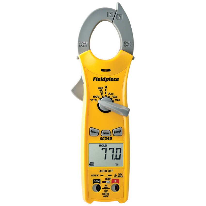 Digital Clamp Meter 31320 : Fieldpiece sc digital clamp meter compact