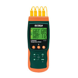Extech SDL200-NIST 4-Channel Thermometer with Datalogging