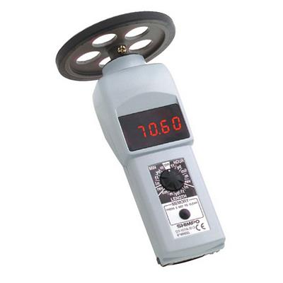 Shimpo DT-107A-S12 Contact Digital Handheld Tachometer with Wheel