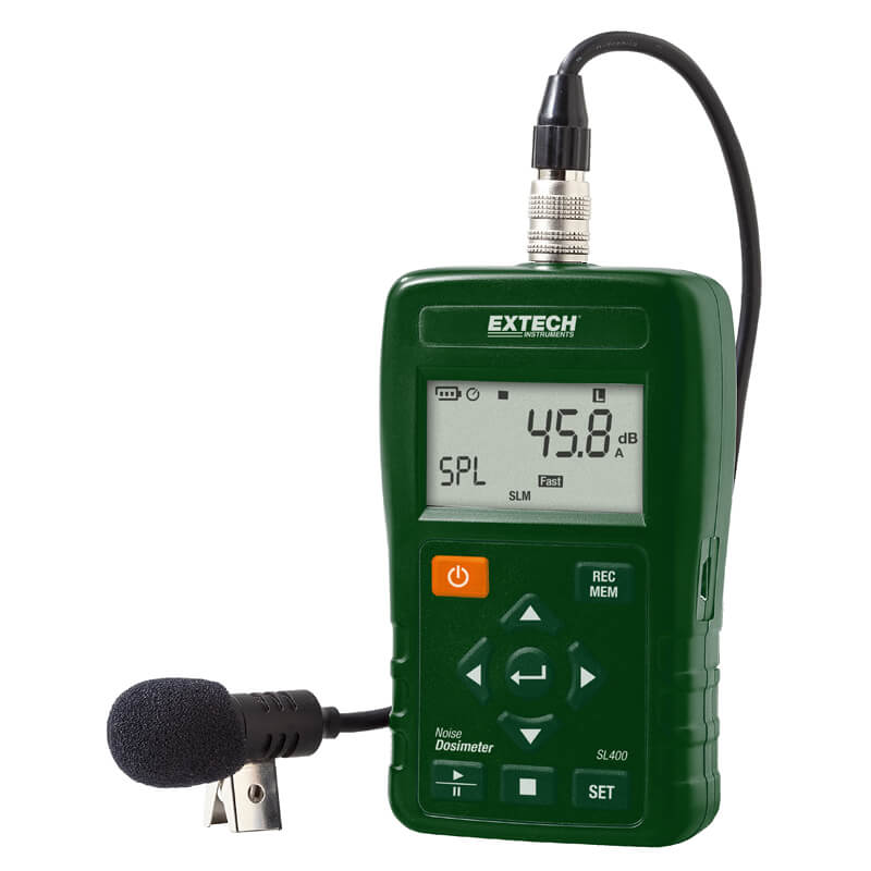 How To Put Real Time Stock Quotes In Excel: Extech SL400 Personal Noise Dosimeter Real Time Datalogger