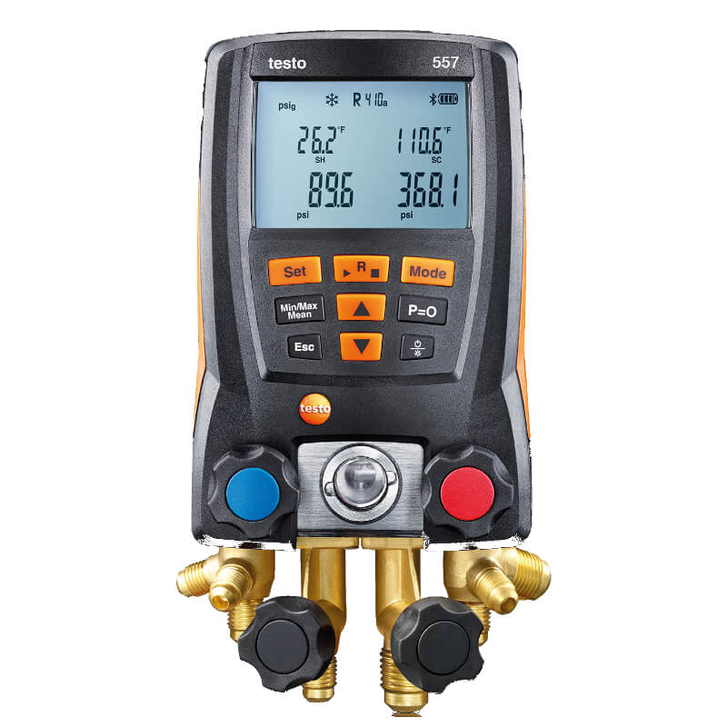 Testo 557 Digital Manifold Kit with Bluetooth Capabilities 0563 1557