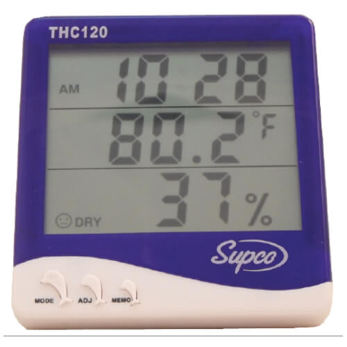 Supco THC120 Thermo-Hygrometer Clock