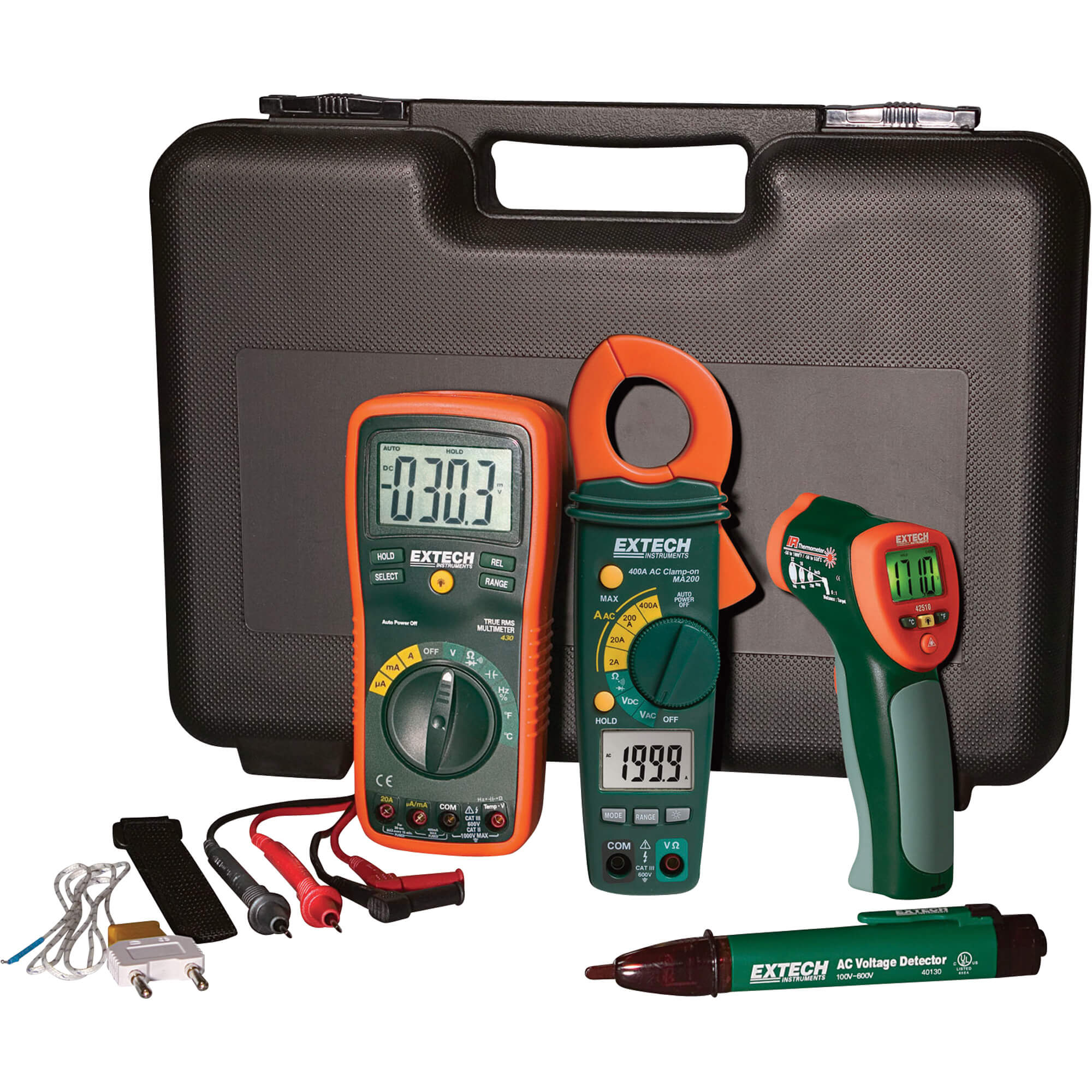 Extech TK430-IR Troubleshooting Test Kit for Electrical Applications