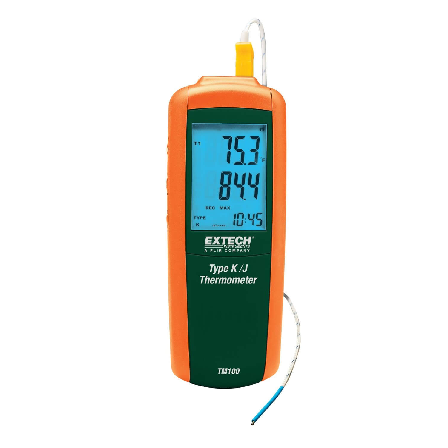 Extech TM100 Digital J-Type or K-Type Single Input Thermometer