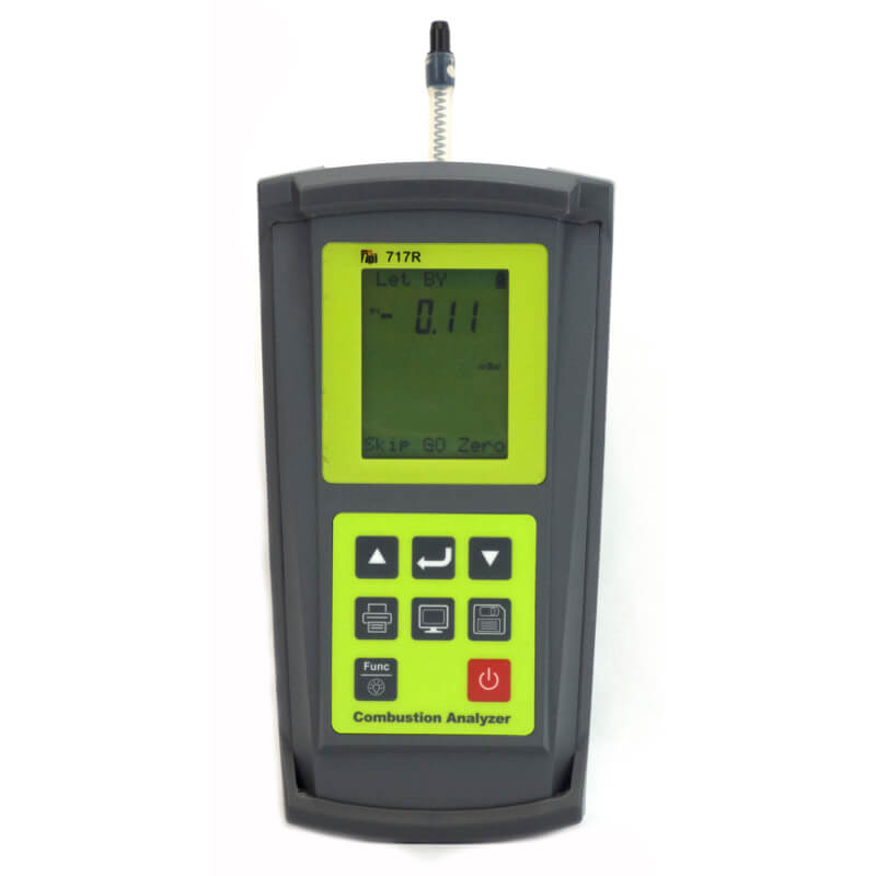 TPI 717R Combustion Flue Gas Analyzer with Appliance Installation and Maintenance Features