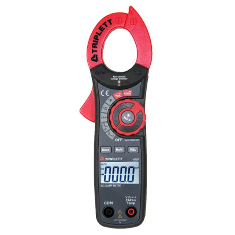 Ac Dc Clamp Meter : Triplett ac dc digital clamp meter