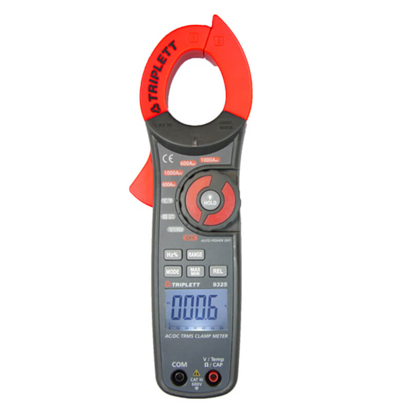 Triplett 9325 True-RMS AC/DC Clamp Meter Digital
