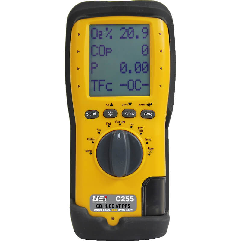 UEi C255 Long Life Industrial Combustion Analyzer with EOS Technology