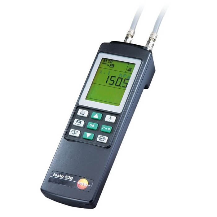 Testo 526-1 Digital Manometer for Differential Pressure