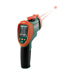Extech VIR50-NISTL Dual Laser IR Thermometer with Video Screen