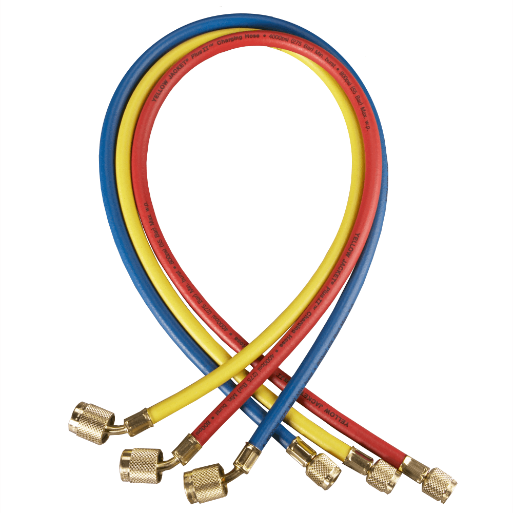 Yellow Jacket 29986 PLUS II 72in Refrigerant Charging Hose Set