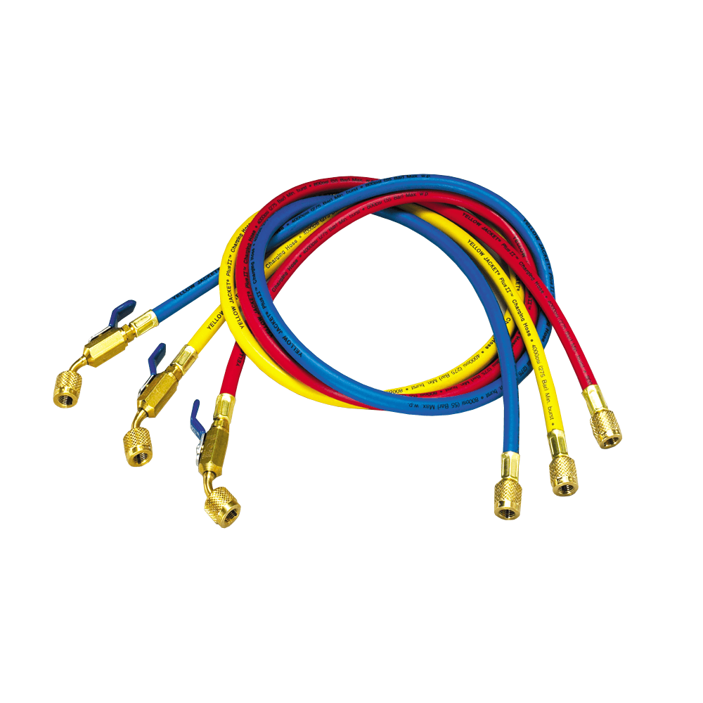 Yellow Jacket 29985 PLUS II 60in Refrigerant Charging Hose Set