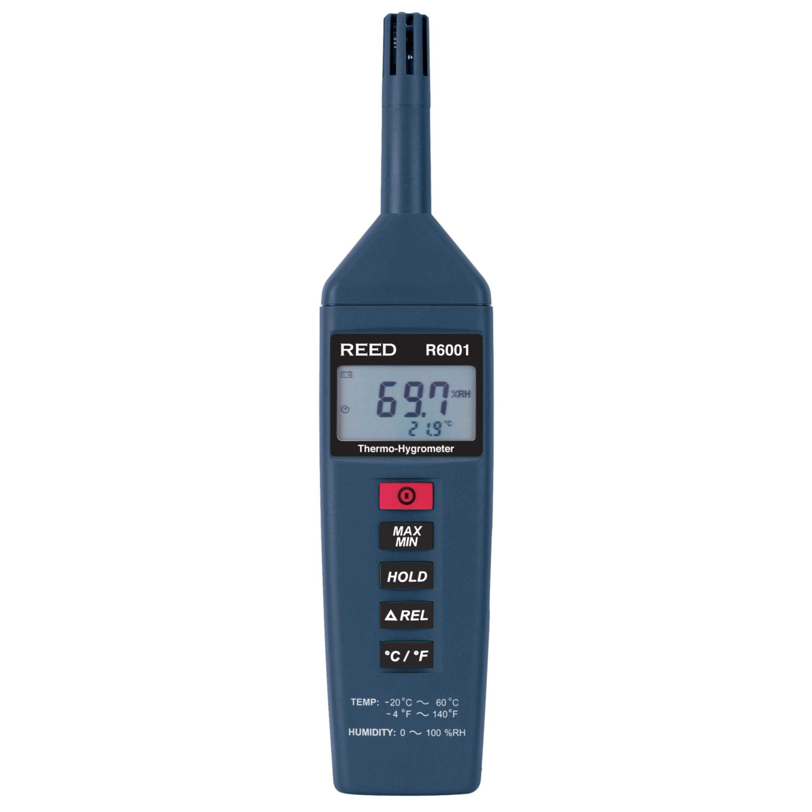 Reed Instruments R6001 Thermo Hygrometer with High Sampling Rate