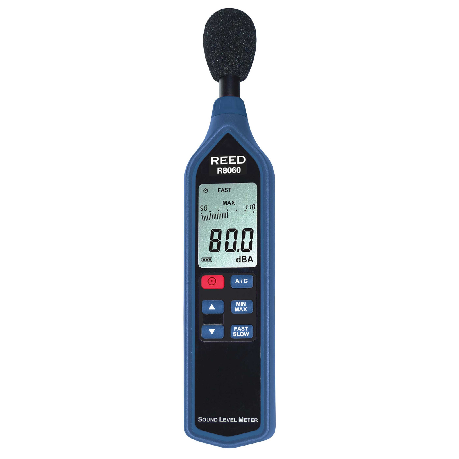 Reed Instruments R8060 Sound Level Meter Type 2 with Bargraph