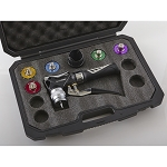 CPS BTLH5E Blackmax Hydraulic Tube Expander Kit with Color Coded Heads from 3/8 to 7/8 Inch