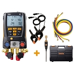Testo 557 4 Valve Digital Manifold Kit with Bluetooth and Hoses 0563 2557
