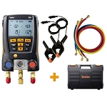 Testo 550 Digital Manifold Kit with Bluetooth and Hoses 0563 2550